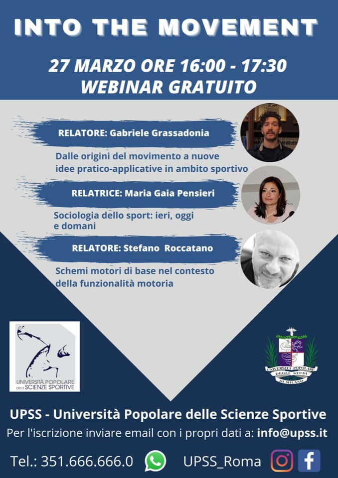 """Webinar gratuito """"Into The Movement"""" 27/03/2021"""