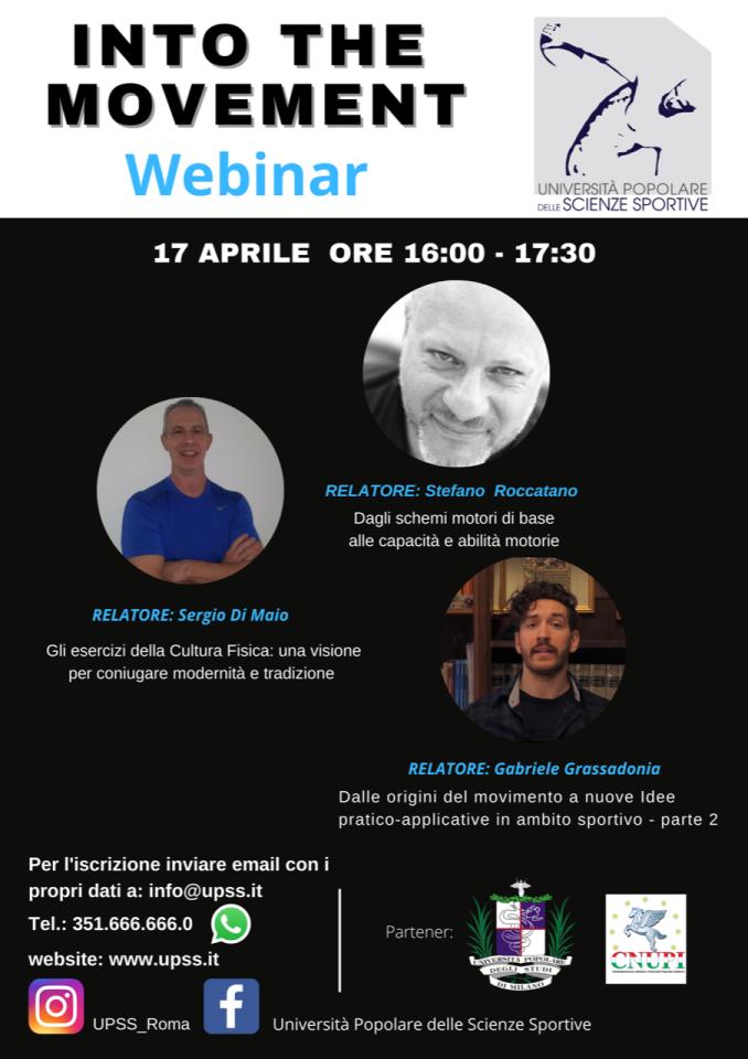"""Webinar gratuito """"Into The Movement"""" 17/04/2021"""